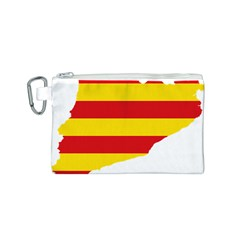 Flag Map Of Catalonia Canvas Cosmetic Bag (S)