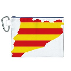 Flag Map Of Catalonia Canvas Cosmetic Bag (XL)