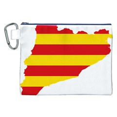Flag Map Of Catalonia Canvas Cosmetic Bag (XXL)