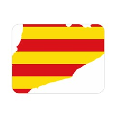 Flag Map Of Catalonia Double Sided Flano Blanket (Mini)