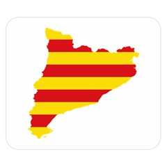 Flag Map Of Catalonia Double Sided Flano Blanket (Small)