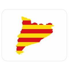 Flag Map Of Catalonia Double Sided Flano Blanket (Medium)