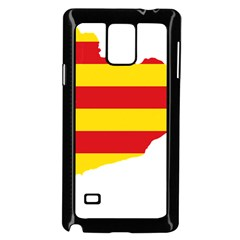Flag Map Of Catalonia Samsung Galaxy Note 4 Case (Black)