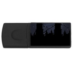 Dark Scene Illustration USB Flash Drive Rectangular (2 GB)