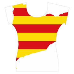 Flag Map Of Catalonia Women s Cap Sleeve Top