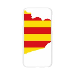 Flag Map Of Catalonia Apple Seamless iPhone 6/6S Case (Transparent)