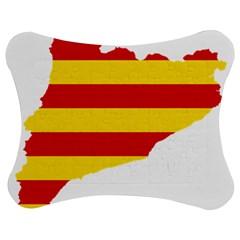 Flag Map Of Catalonia Jigsaw Puzzle Photo Stand (Bow)