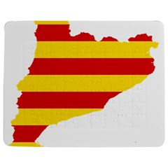 Flag Map Of Catalonia Jigsaw Puzzle Photo Stand (Rectangular)