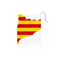 Flag Map Of Catalonia Drawstring Pouches (XS)