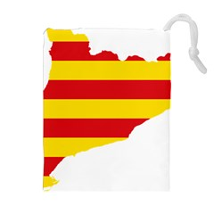 Flag Map Of Catalonia Drawstring Pouches (Extra Large)