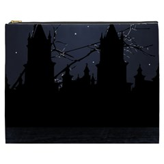 Dark Scene Illustration Cosmetic Bag (XXXL)