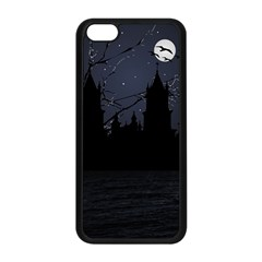 Dark Scene Illustration Apple iPhone 5C Seamless Case (Black)