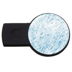 Blue pattern USB Flash Drive Round (1 GB)