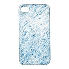 Blue pattern Apple iPhone 4/4S Hardshell Case with Stand