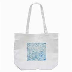 Blue pattern Tote Bag (White)