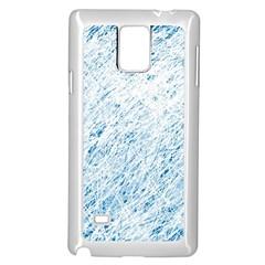 Blue pattern Samsung Galaxy Note 4 Case (White)