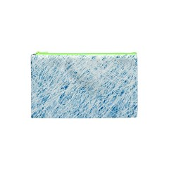 Blue pattern Cosmetic Bag (XS)