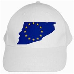 Catalonia European Union Flag Map  White Cap