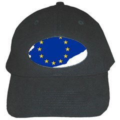 Catalonia European Union Flag Map  Black Cap