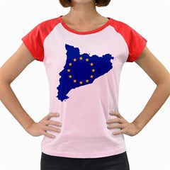 Catalonia European Union Flag Map  Women s Cap Sleeve T-Shirt