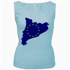 Catalonia European Union Flag Map  Women s Baby Blue Tank Top