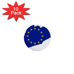 Catalonia European Union Flag Map  1  Mini Buttons (10 pack)