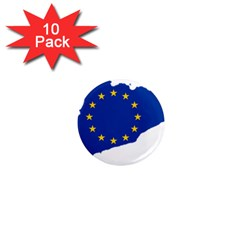 Catalonia European Union Flag Map  1  Mini Magnet (10 pack)