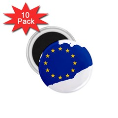 Catalonia European Union Flag Map  1.75  Magnets (10 pack)