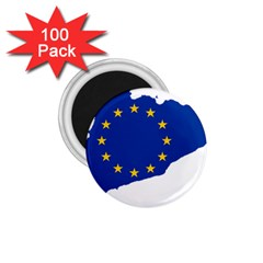 Catalonia European Union Flag Map  1.75  Magnets (100 pack)