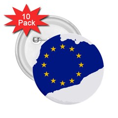 Catalonia European Union Flag Map  2.25  Buttons (10 pack)
