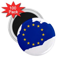 Catalonia European Union Flag Map  2.25  Magnets (100 pack)