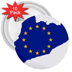 Catalonia European Union Flag Map  3  Buttons (10 pack)