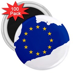 Catalonia European Union Flag Map  3  Magnets (100 pack)