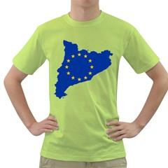 Catalonia European Union Flag Map  Green T-Shirt