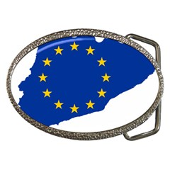 Catalonia European Union Flag Map  Belt Buckles