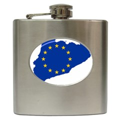Catalonia European Union Flag Map  Hip Flask (6 oz)