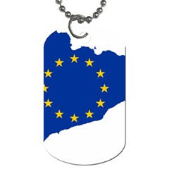 Catalonia European Union Flag Map  Dog Tag (Two Sides)