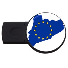 Catalonia European Union Flag Map  USB Flash Drive Round (2 GB)