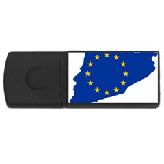 Catalonia European Union Flag Map  USB Flash Drive Rectangular (2 GB)