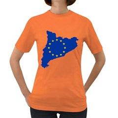 Catalonia European Union Flag Map  Women s Dark T-Shirt
