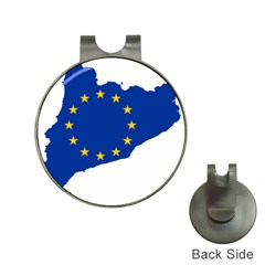 Catalonia European Union Flag Map  Hat Clips with Golf Markers