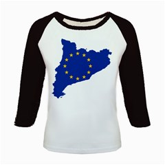 Catalonia European Union Flag Map  Kids Baseball Jerseys
