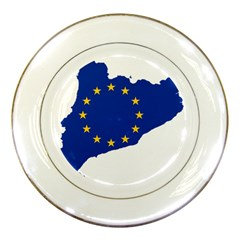 Catalonia European Union Flag Map  Porcelain Plates