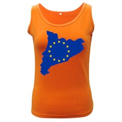 Catalonia European Union Flag Map  Women s Dark Tank Top