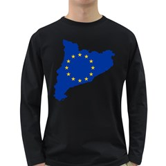 Catalonia European Union Flag Map  Long Sleeve Dark T-Shirts