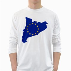 Catalonia European Union Flag Map  White Long Sleeve T-Shirts