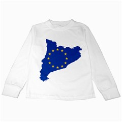 Catalonia European Union Flag Map  Kids Long Sleeve T-Shirts