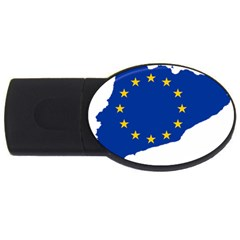 Catalonia European Union Flag Map  USB Flash Drive Oval (4 GB)