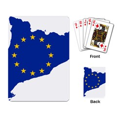 Catalonia European Union Flag Map  Playing Card