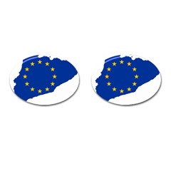 Catalonia European Union Flag Map  Cufflinks (Oval)